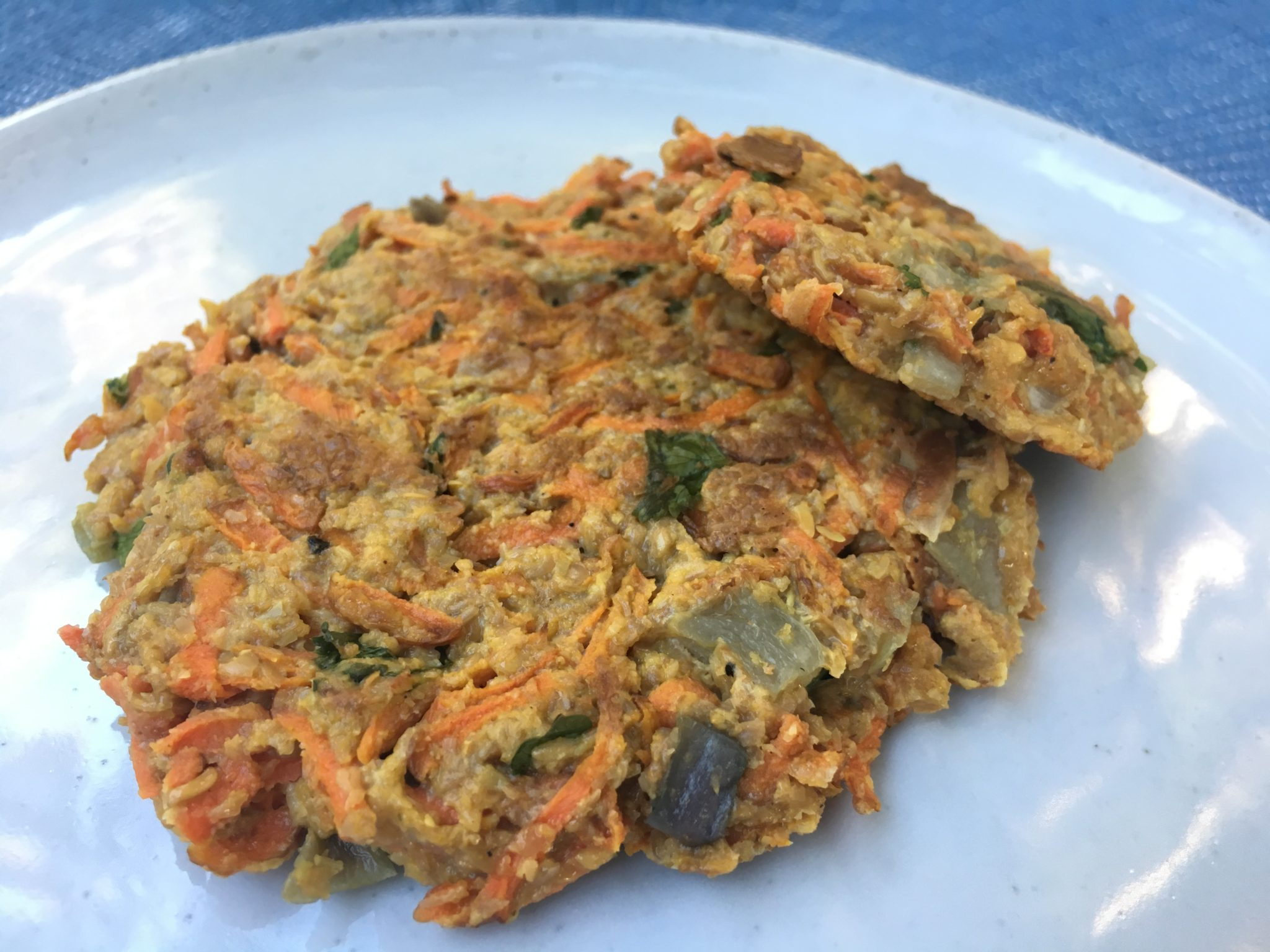 Carrot Fritters with Yogurt Sauce