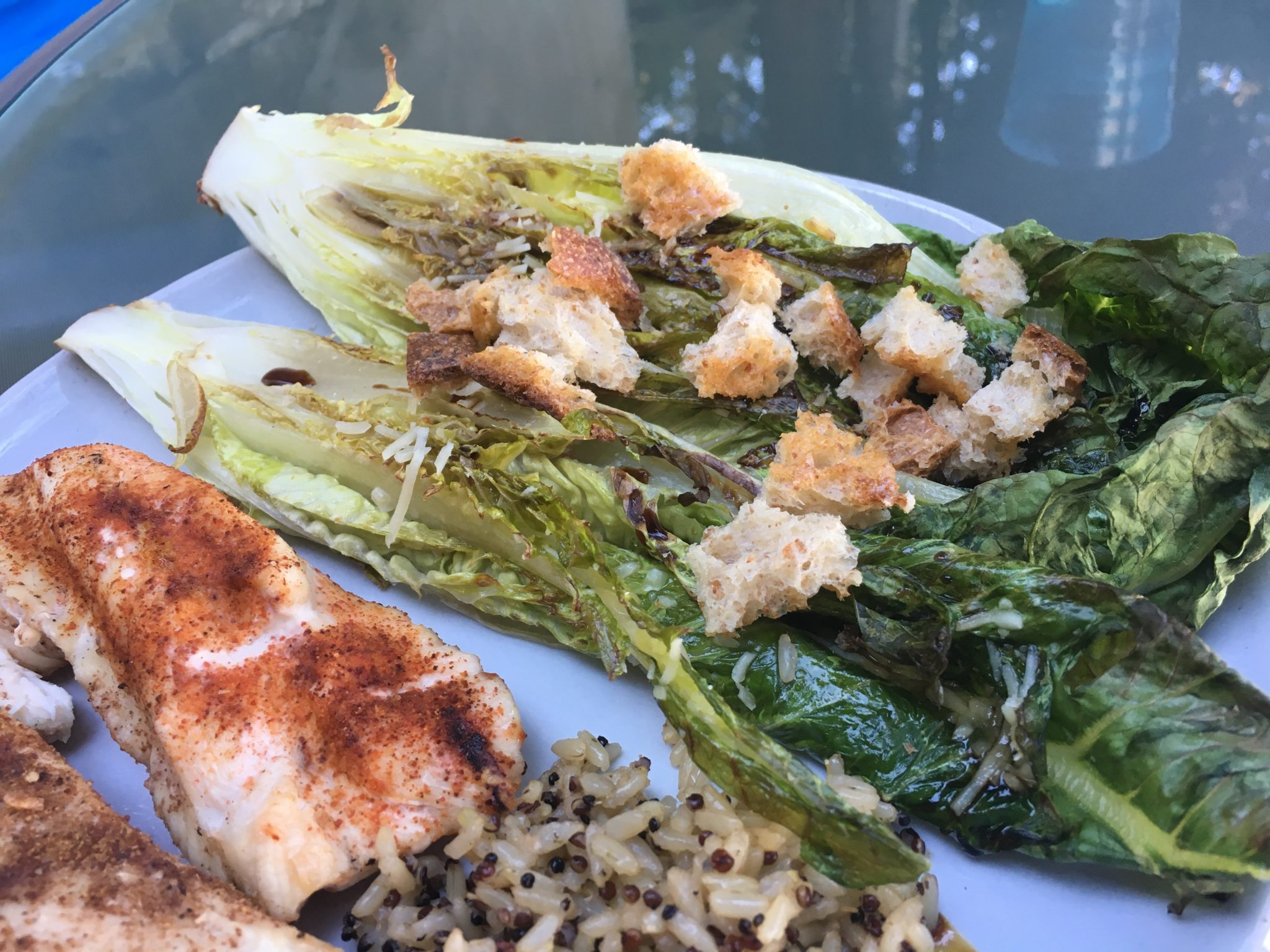 Grilled Romaine Hearts with Dijon Vinaigrette