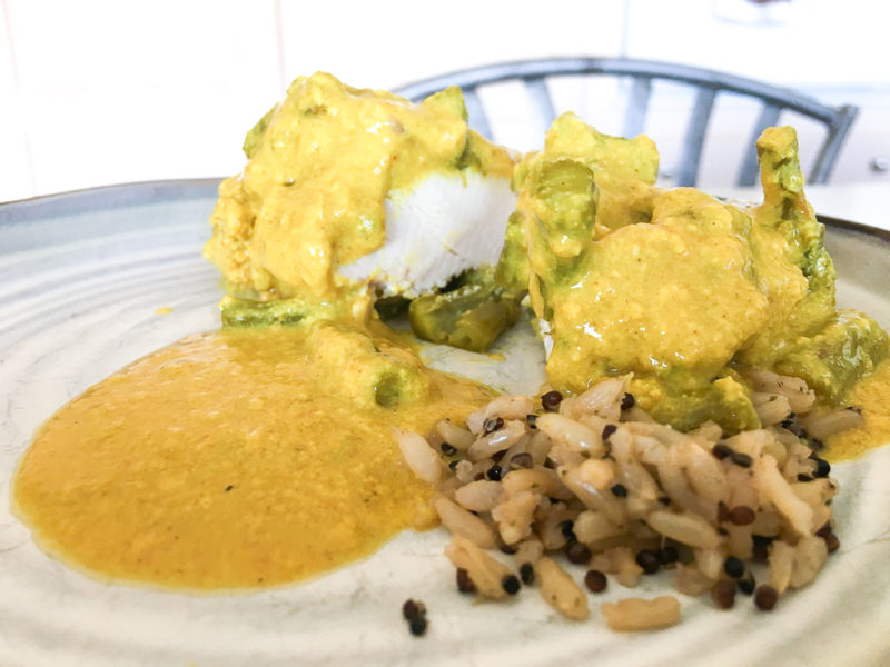 Chicken and Asparagus with Creamy Curry Sauce