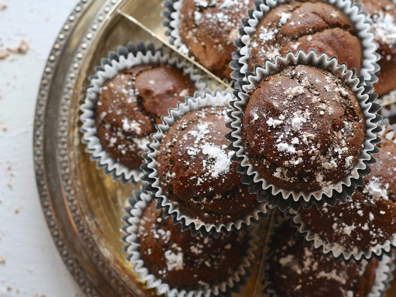 Double Chocolate Banana Muffins (Guilt-Free)