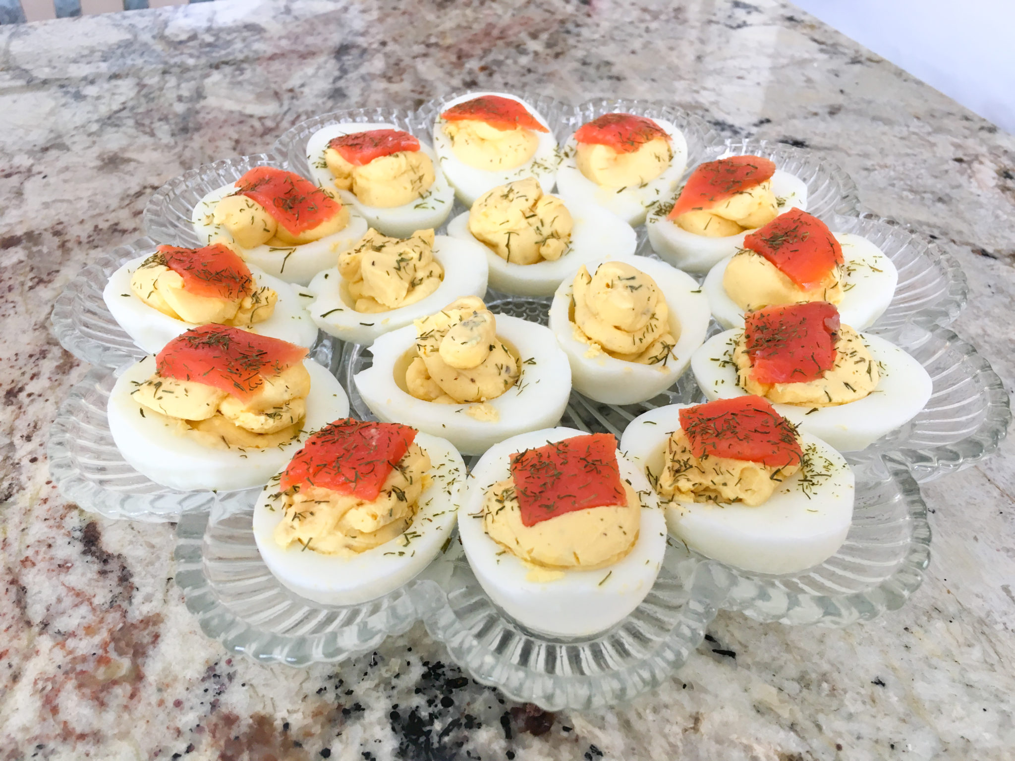 Delicious Deviled Eggs (+ Smoked Salmon to Top)