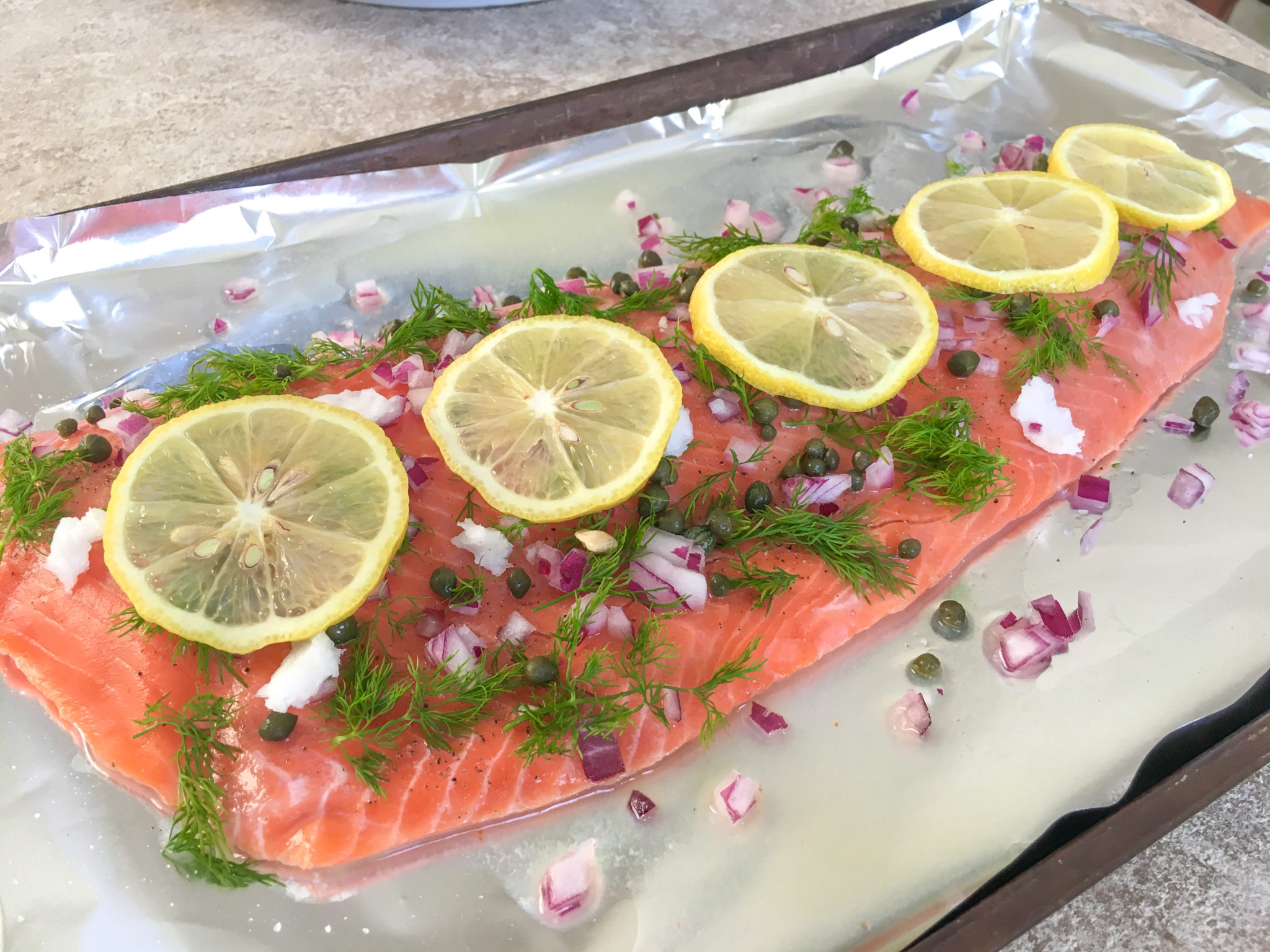 Lickety-Split Lemon Dill Salmon