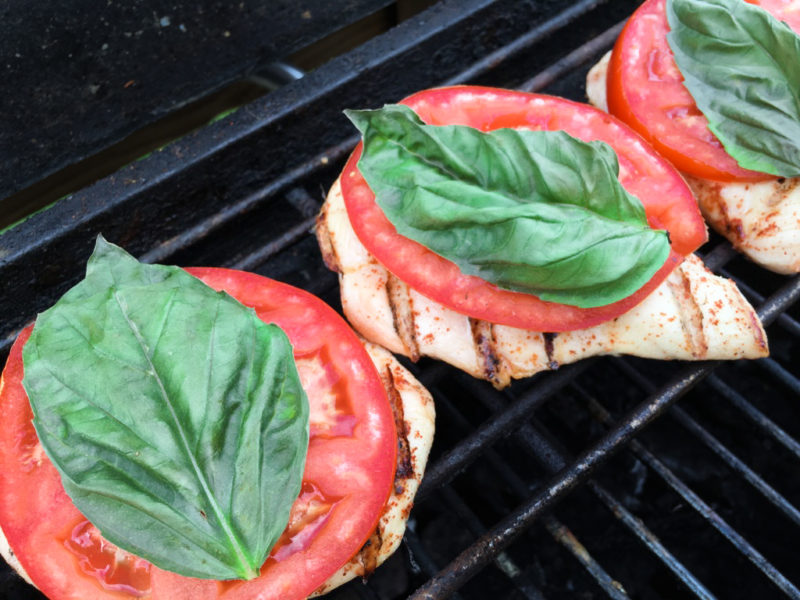 Grilled Caprese Chicken with Basil and Balsamic