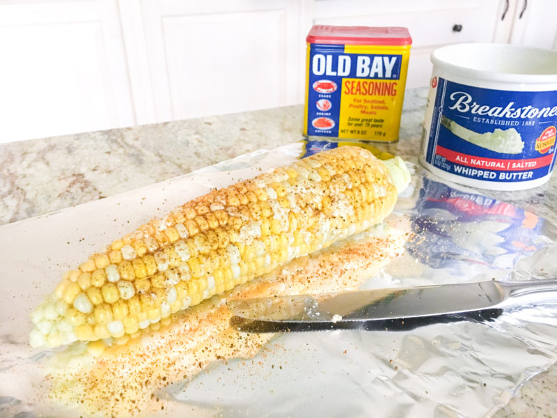 Maryland Style Corn on the Cob in a Foil Pack