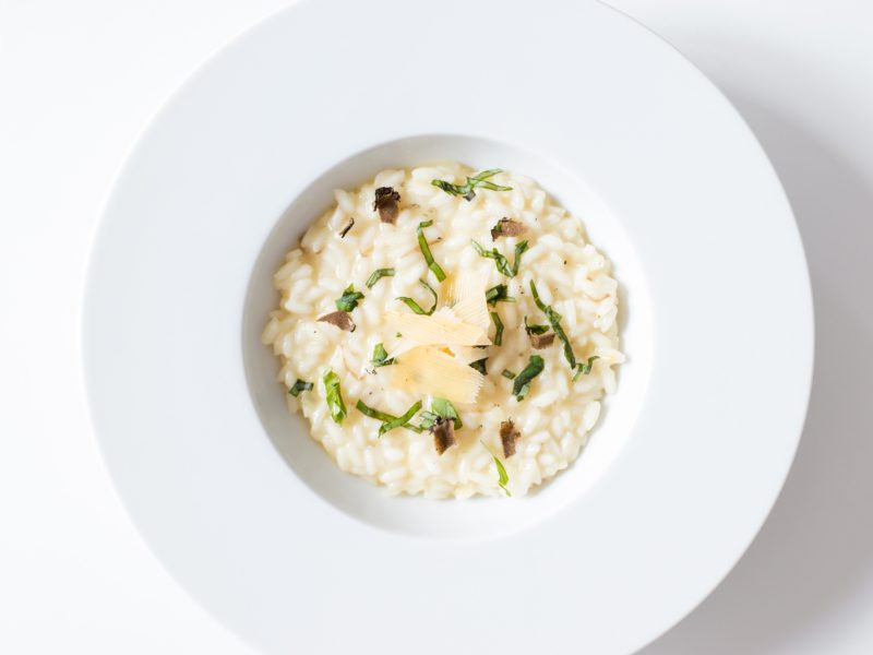 "Cauli-""risotto"" with Charred Sweet Corn"