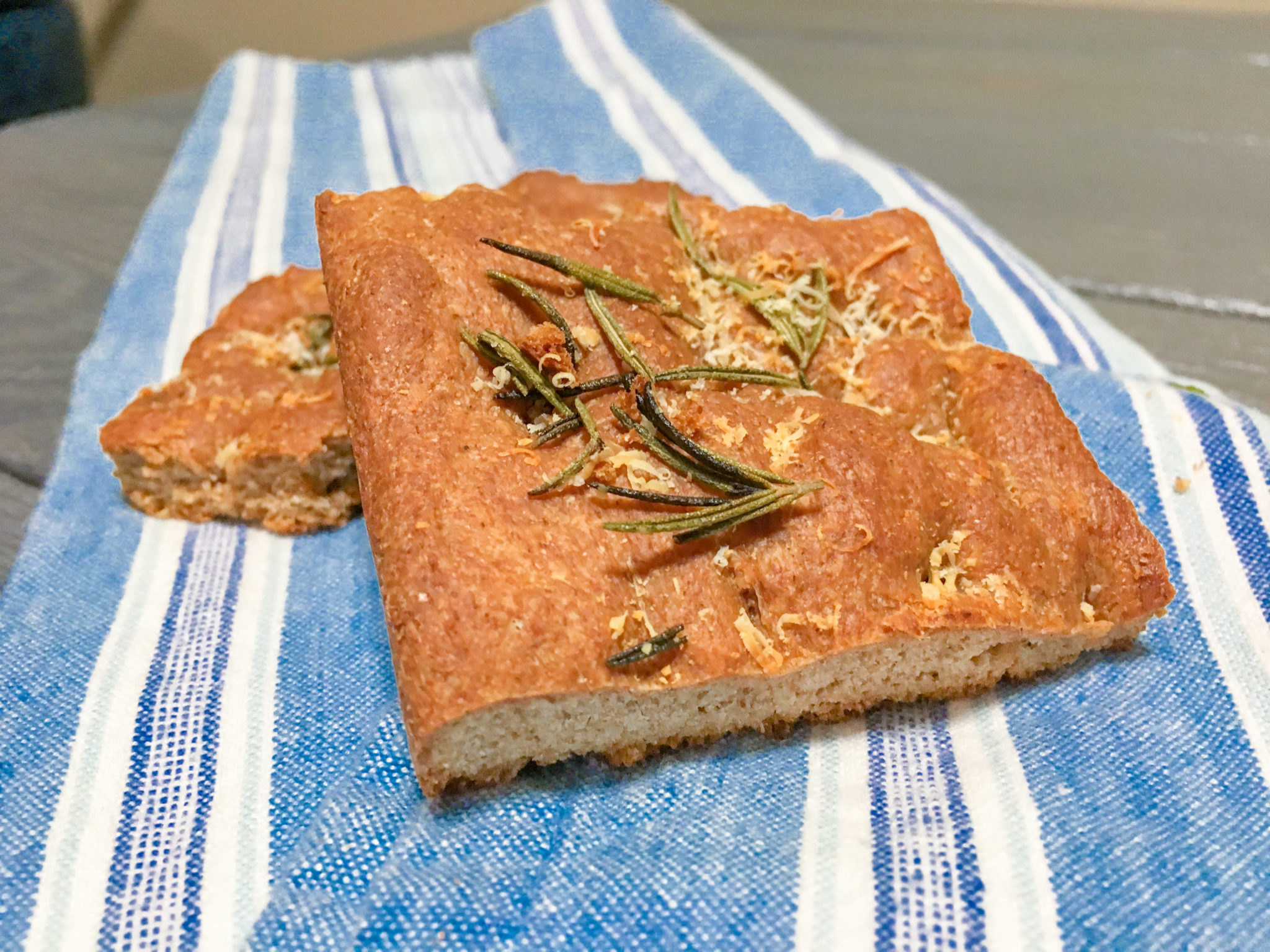 Whole Wheat Rosemary Focaccia Bread