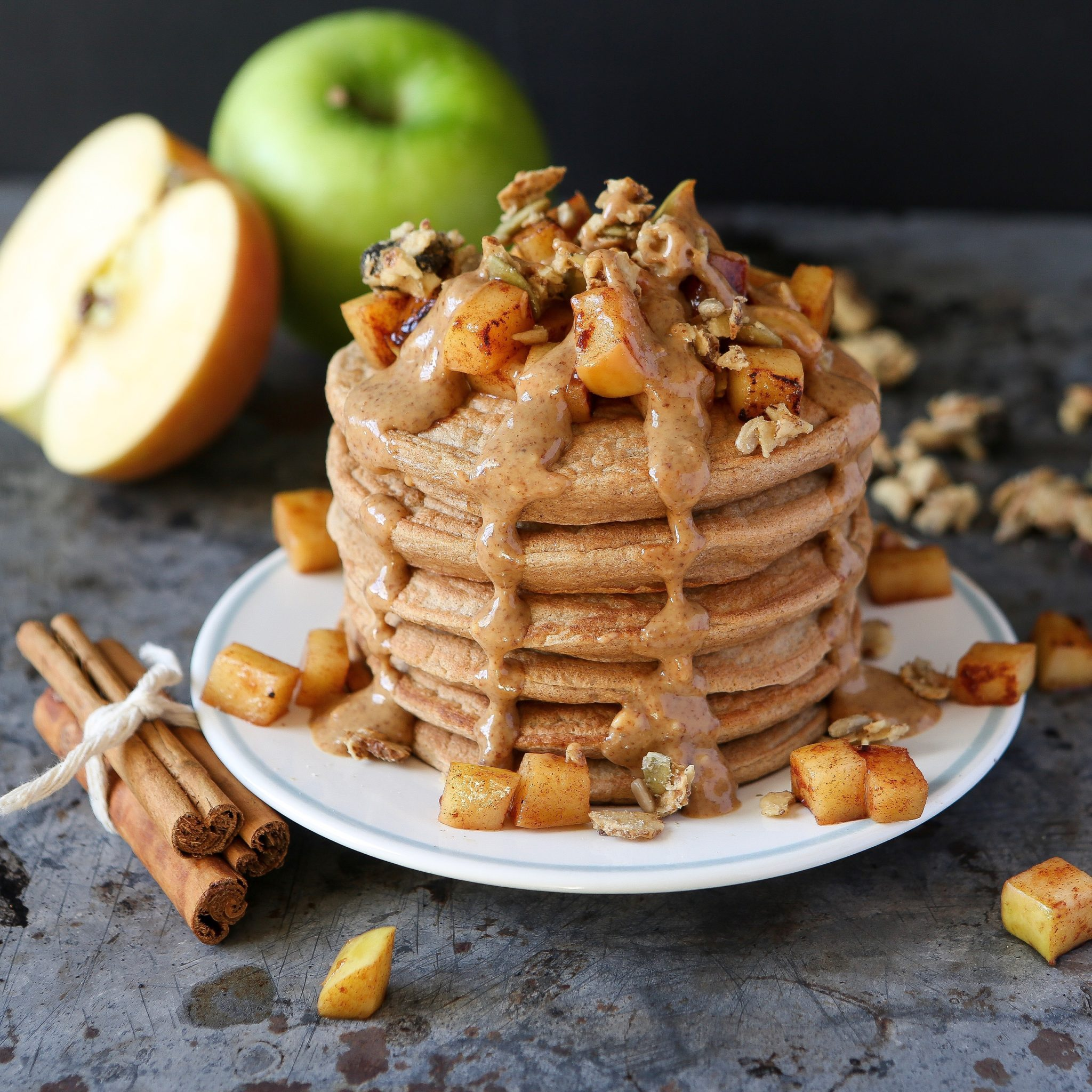 Apple Cinnamon Pancakes (Gluten-Free + Low Carb)