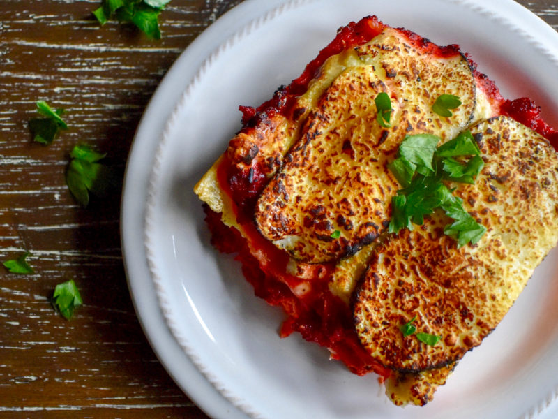 Meatless Moussaka (Eggplant and Tomato Casserole)