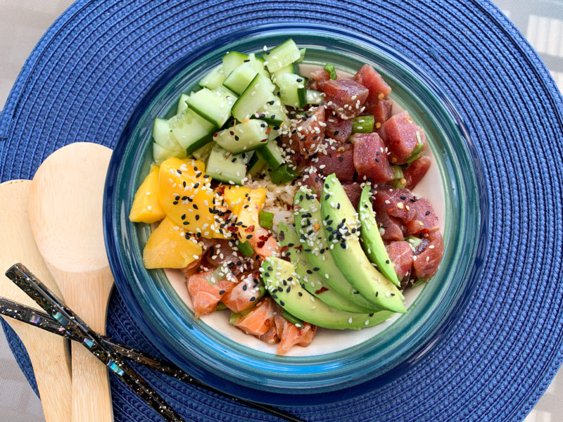 Ahi Tuna Poke Bowl (Easy + Fresh + Healthy)