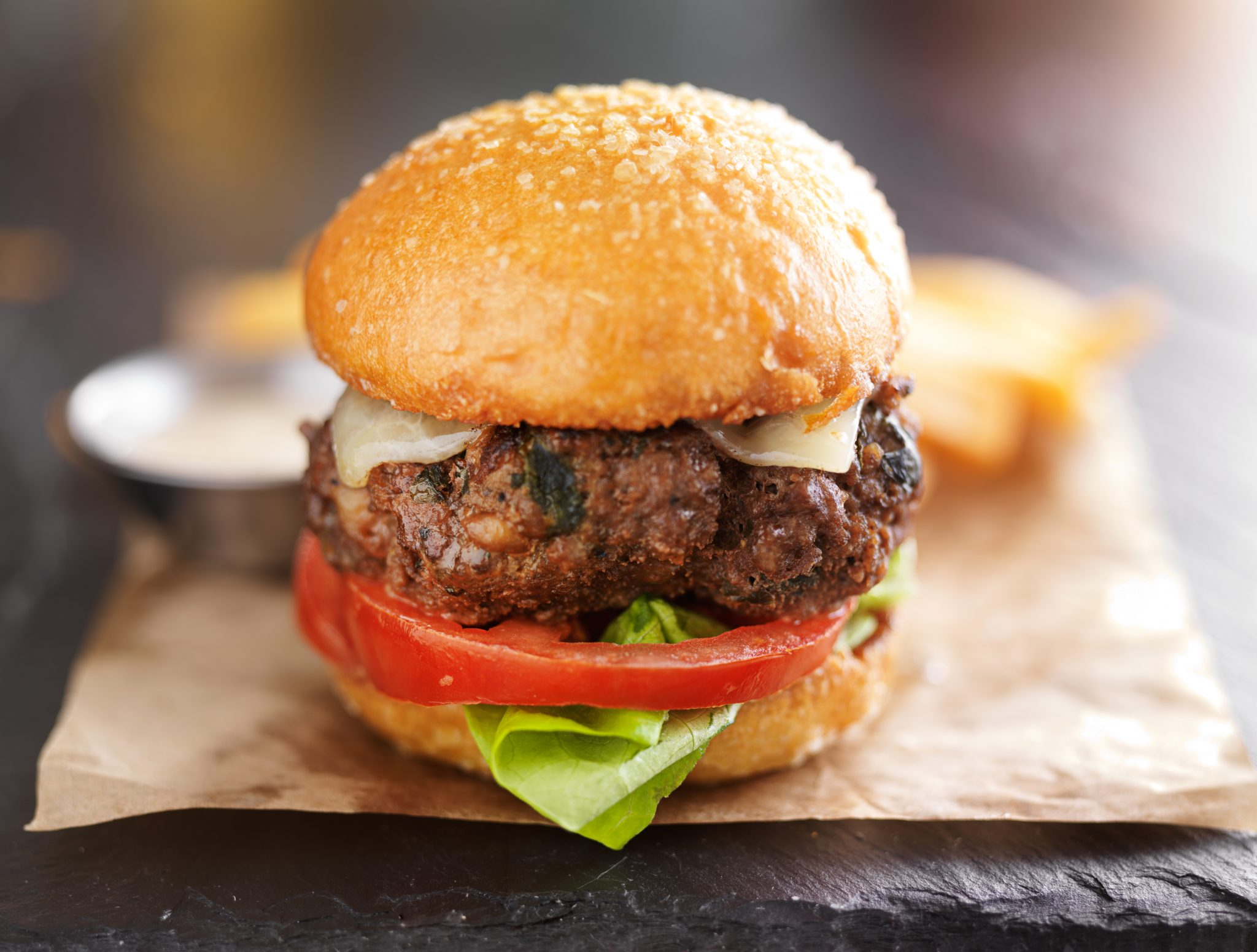 Hidden Veggie BBQ Burgers (with Finely Chopped Mushroom)